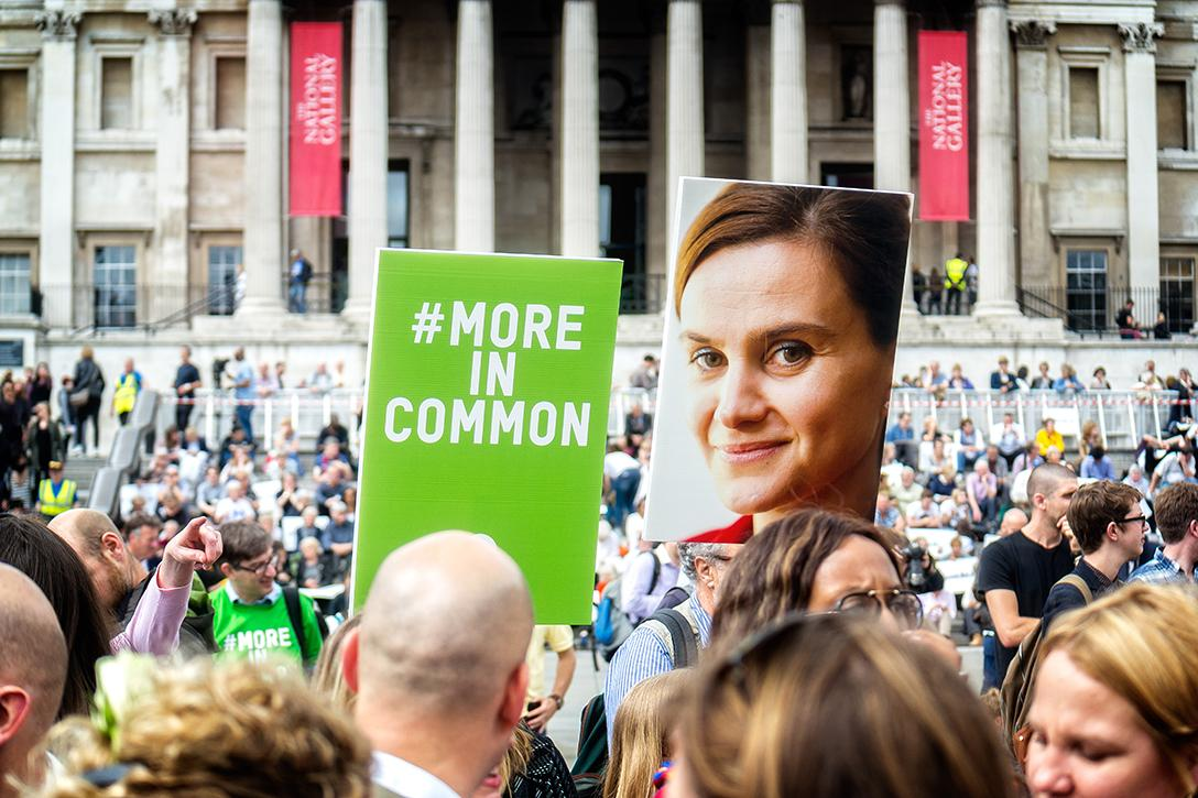 Memorial for Jo Cox, MP, at Trafalgar Square, London. Photo credit: Garry Knight / Flickr (CC0 1.0)